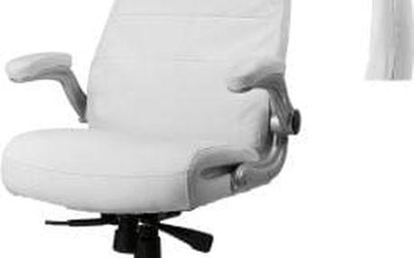 Kancelářské křeslo Deluxe s nastavitelnou opěrkou hlavy bílá