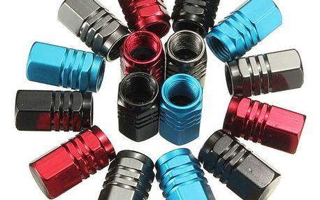 Hliníkové čepičky na ventilky - 4 barvy