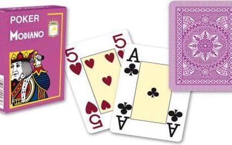 Modiano 4245 100% plastové karty 4 rohy - Fialové
