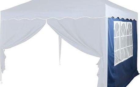Boční stěna s trojdílným oknem - 3x3m - modrý