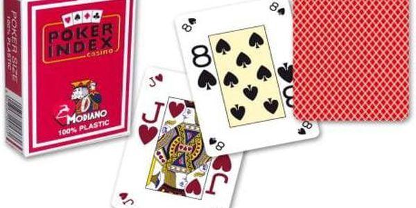 Modiano mini 2100 Karty 4 rohy - Červená