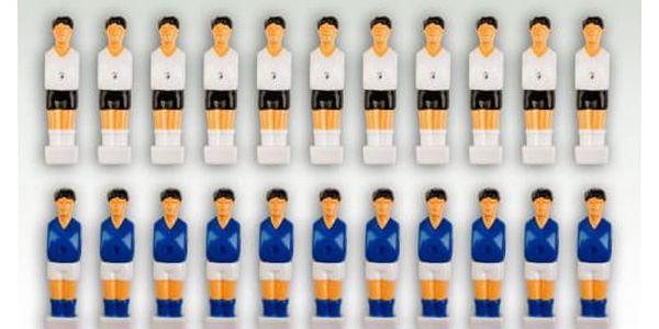Tuin 1286 Sada 22 figurek na fotbálek bílá-modrá 2,5 x 10,5 x 2 cm
