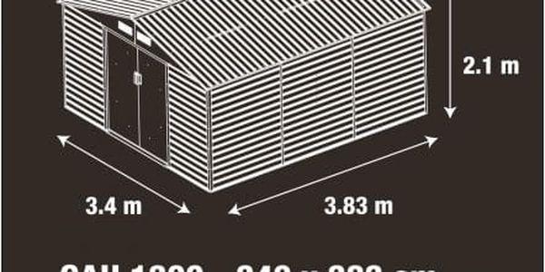 Zahradní domek G21 GAH 1300 - 340 x 383 cm, šedý
