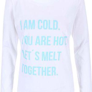 Bílé dámské tričko s dlouhým rukávem ZOOT Originál Hot Cold