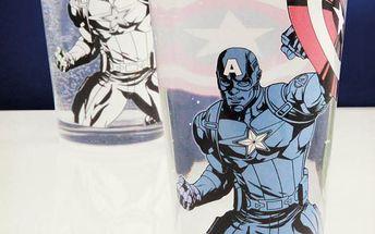 Sklenička měnící barvu Captain America