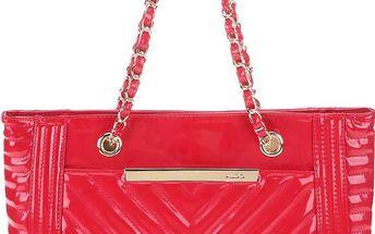 Červená velká lakovaná kabelka ALDO Borghi