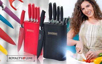 Kvalitní 7dílná sada švýcarských kuchyňských nožů z nerez oceli vč. stojanu a poštovného