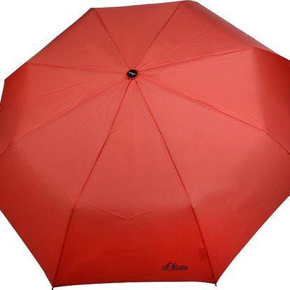 s.Oliver Dámský skládací mechanický deštník Fruit Cocktail Uni - coralle 70801SO21 Coralle