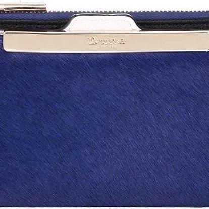 Modrá peněženka s vlasovou úpravou a vizitkářem Dune London Kiri