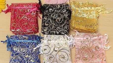Dárkové sáčky v různých barvách - 100 kusů - poštovné zdarma