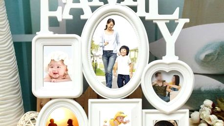 Fotorámeček s nápisem Family