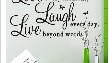 Samolepka na zeď - Love, Live, Laugh - poštovné zdarma