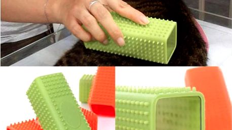 Silikonový kartáč pro domácí mazlíčky