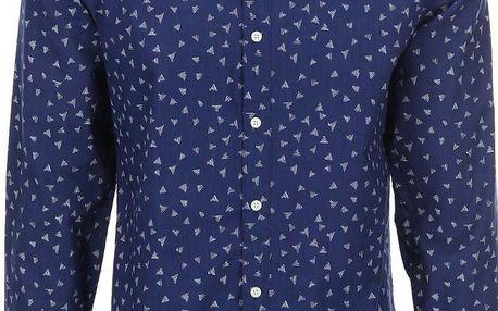 Modrá vzorovaná košile Selected One