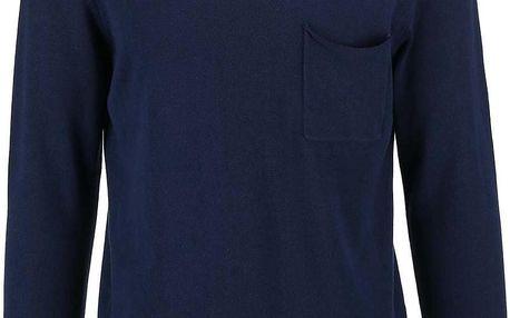 Tmavě modrý svetr s kapsou Selected Jai