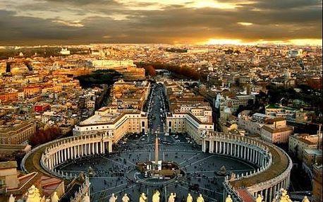 5-denní poznávací zájezd do Říma s koupáním u moře, ubytováním a snídaněmi