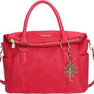 Desigual dámská kabelka s přívěskem růžová uni