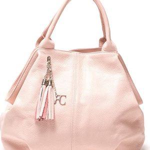 Kožená kabelka Renata Corsi 1076, růžová - doprava zdarma!