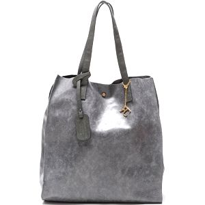 Kožená kabelka Renata Corsi 892, šedá - doprava zdarma!