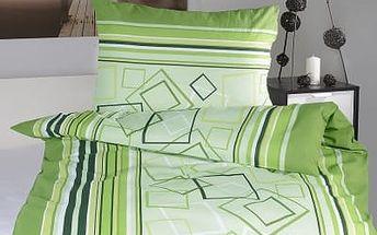 XPOSE ® Flanelové povlečení HANA - zelená 140x200, 70x90