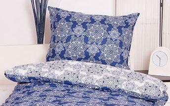 XPOSE ® Krepové povlečení ILONA DUO - modrá 140x200, 70x90