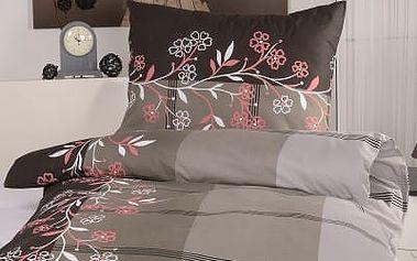 XPOSE ® Bavlněné povlečení na dvě lůžka ADINA - šedá 140x200, 70x90