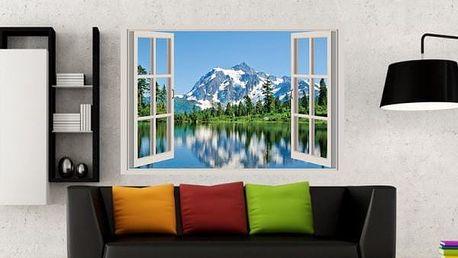 Samolepka na zeď - Výhled na hory