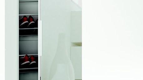 ZAPPATERO, botník se zrcadlem, bílá