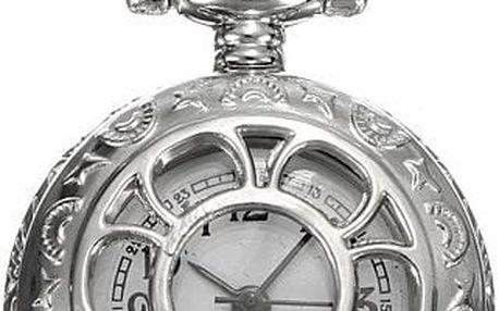 Řetízkové hodinky s motivem květiny