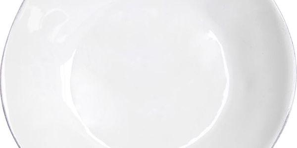 Keramický polévkový talíř Nova 25 cm, bílý