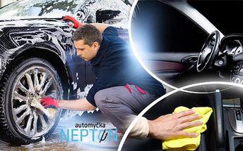 Kompletní čištění vozu Prémium: interiér i interiér nebo dezinfekce interiéru a klimatizace
