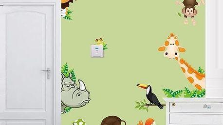 Samolepka na zeď - zvířátka v džungli