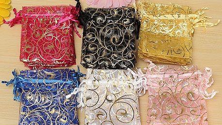 Dárkové sáčky v různých barvách - 100 kusů