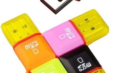 Mini USB čtečka micro SD/TF karet - poštovné zdarma