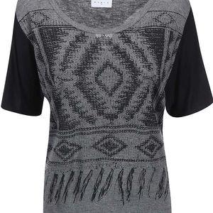 Černo-šedé tričko se vzorem Vero Moda Pil