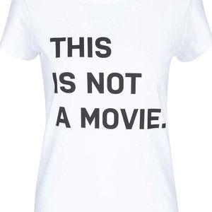 Bílé dámské tričko s potiskem ZOOT Originál This Is Not A Movie