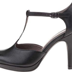 Černé boty na podpatku Tamaris