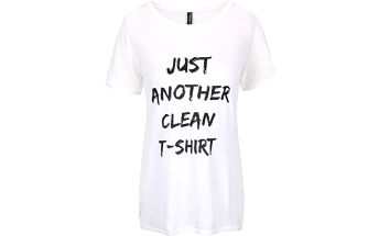 Bílé delší tričko s potiskem Madonna