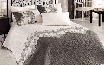 Přehoz přes postel a povlaky na polštáře Mixscarlet Beige, 200x220 cm