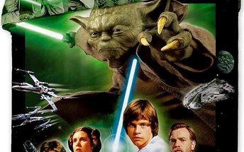 Jerry Fabrics bavlna povlečení Star Wars zelené 140x200 70x90