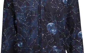 Tmavě modrá košile se vzorem souhvězdí Lindbergh