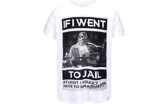 Bílé tričko Shine Original Jail