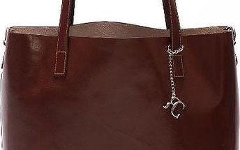 Kožená kabelka Beatriz, tmavě hnědá - doprava zdarma!