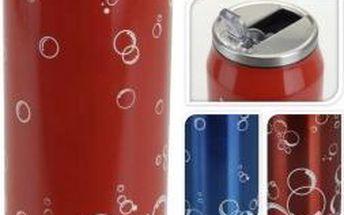 Láhev na nápoje 500 ml nerez design plechovka ProGarden KO-995000020, Modrá
