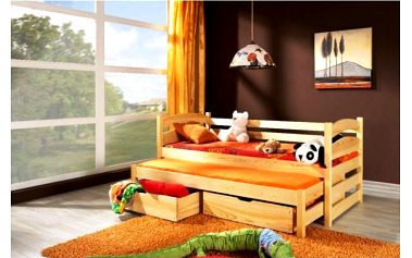 Rozkládací postel s přistýlkou Ramon - DOPRAVA ZDARMA!