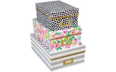 Sada 3 úložných krabic Filled With Love