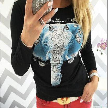 Dámské tričko s potiskem Elephant
