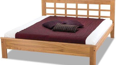 Dřevěná postel s čelem Valtraud - DOPRAVA ZDARMA!
