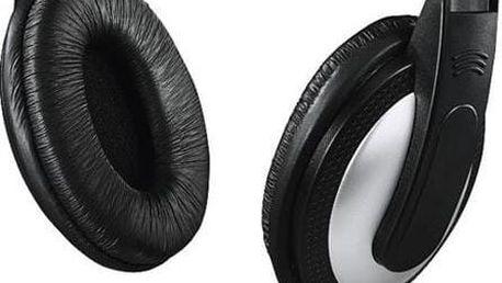 Hama sluchátka HK-5619 k TV, uzavřená, černá/stříbrná; 135619