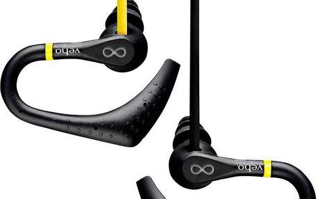 Sportovní sluchátka Veho ZS-2, žlutá